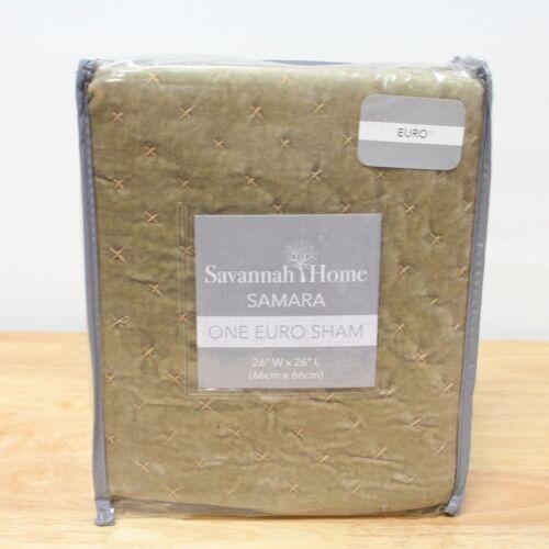 NEW Savannah Bedding Samara Cotton EURO EUROPEAN Sham Taupe $100 G2771