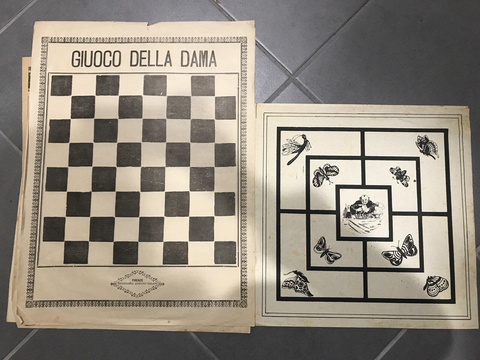 Gioco vintage primo 900 GIUOCO DELLA DAMA e labirinto firenze salani