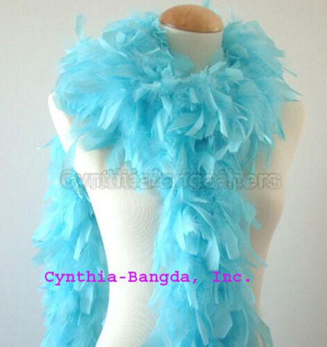 Aqua Blue 65 Grams Chandelle Feather Boa  Dance  Party Halloween Costume