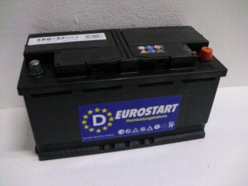 Eurostart Starterbatterie 12V 88Ah 88 Ah 588027