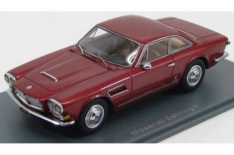 MASERATI Sebring Series II 1966 Metallic Dark rot Neo scale models 1 43 NEO45640