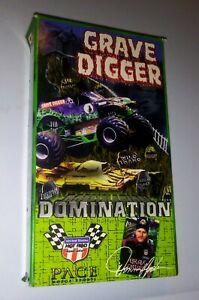 Grave Digger Vhs Video Monster Truck Grave Digger Domination Movie Vintage Rare Ebay