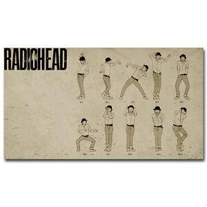Radiohead Lotus Flower Dance Silk Poster Print 13x24 24x43inch 002