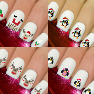 NIEVE-Navidad-Santa-Unas-Nails-Art-3D-Calcomanias-Coberturas-Pegatinas-Calcomanias-Reno