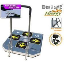 DDR USB Energy Arcade Metal Dance Pad XBOX 360  PS2 XBOX PC Wii W/ Handle Bars