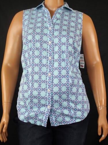16W Charter Club Plus Size Printed Sleeveless Women/'s Tank Top Shirt 1082
