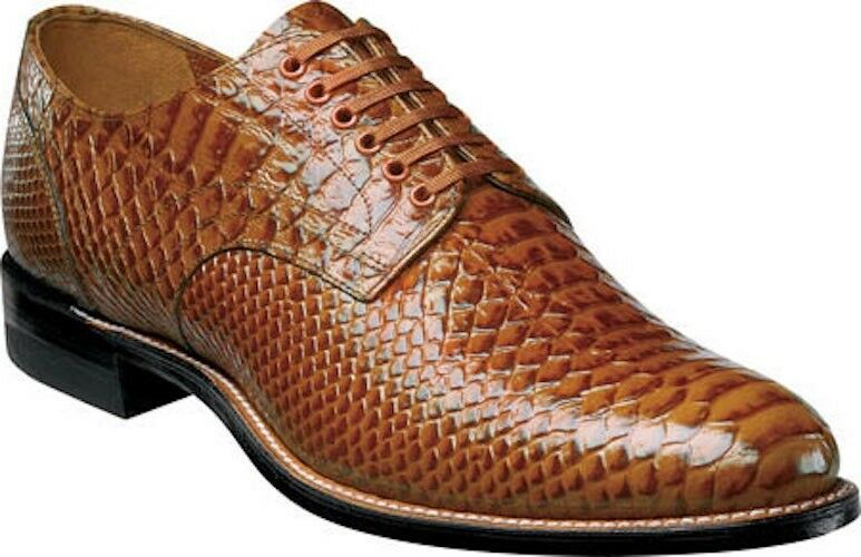 Stacy Adams 'Madison' Anaconda Print Oxford shoes 00055 (Men's)  in Tan