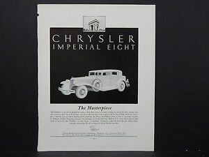 Automobile-Ad-1930-039-s-Vintage-13-Chrysler