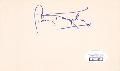 Sidney Kingsley D 1995 Signed 3x5 Index Card Actor/dead End Kids Jsa Cc210623 Entertainment Memorabilia Television