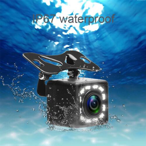 HD Dynamic 170° CCD 12LED Car Reverse Backup Rear View Camera Track Trajectory