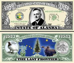 FREE SLEEVE classic State of Hawaii Dollar Bill Fake Funny Money Novelty Note