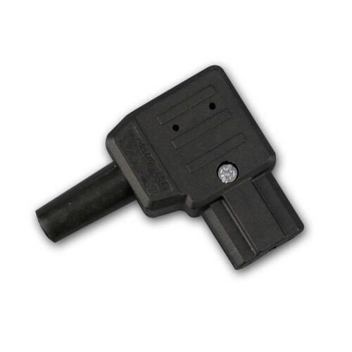 Heißgeräte Angle Connecteur 230v//10a noir Connecteurs Fiches pour heißgerät