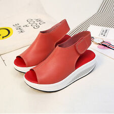 458ae22fdc80 2018 Hot Casual Women s Sandals Autumn Wedge Heels High Platform Open Toe  Shoes