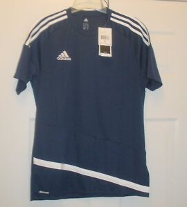 REDUCED-ADIDAS-M-NWT-MEN-039-S-SHORT-SLEEVE-ATHLETIC-JERSEY-BLUE-CLIMACOOL-MSRP-35