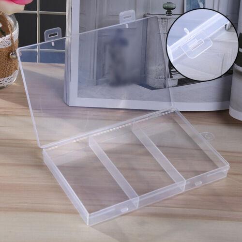 3 Fach Kunststoff Klar Schmuck Aufbewahrungsbox Perlen Container Case Organizer
