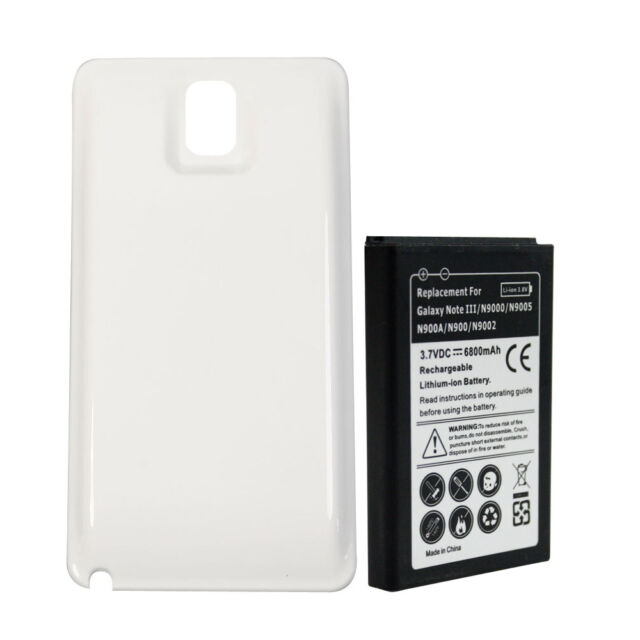 Extended Battery 7800mAh For Samsung Galaxy Note3 III N9000 N9005 N900A W COVER