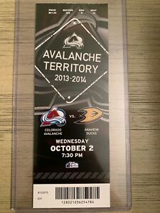 2013-14-Colorado-Avalanche-NHL-Mint-Ticket-Stubs-pick-game-MacKinnon-debut