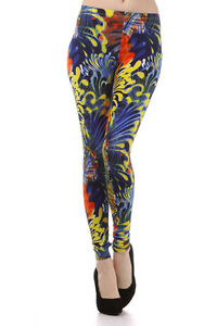 RETRO-PAISLEY-ABSTRACT-LEGGINGS-BRIGHT-PSYCHEDELIC-HIPPIE-PRINT-AUS-SIZES-SUMMER