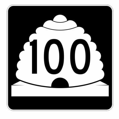 Utah State Highway 100 Sticker Decal R5427 Highway Route Sign