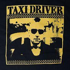 Taxi Driver ***SMALL*** 1976 movie t-shirt Yellow on Black Robert De Niro
