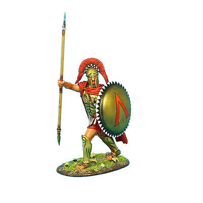 AG001 Greek Hoplite Commander with Brass Armor and Sparta Shield by First Legion