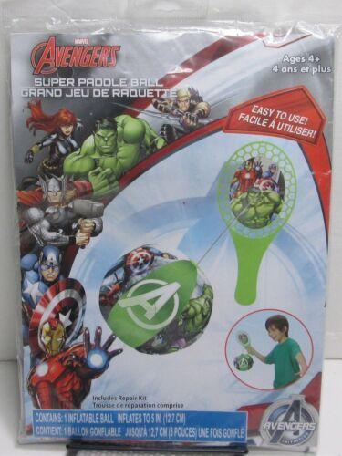 NEW Marvel Avengers 28310AVG Kids Super Paddle Ball Inflatable Toy+Repair Kit