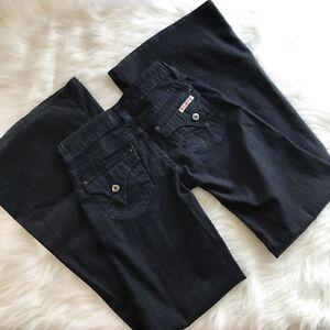 0ae267de866 Hudson Womens Jeans Sz 2S Dark Wash Blue Stretch Bell Bottom Jeans ...