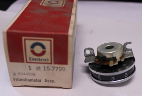 400 New OEM Delco Potentiometer Temp Control Wheel 9344928 1973 1976 Buick