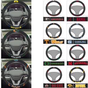 NCAA-Pick-your-Team-Car-Truck-Embroidered-Steering-Wheel-Cover-Official-Licensed