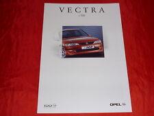 OPEL Vectra B i 500 Limousine Prospekt + Preisliste von 1999