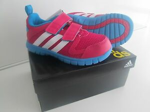 Kids Adidas Trainers STA Fluid 3.0 Infants Girls Pink Blue Sizes UK 5k - UK 9.5k