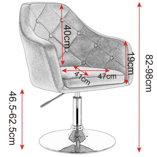 1x Tabourets De Bar Lounge Fauteuil tabouret de bar avec accoudoirs pivotante cuir synthétique métal #1143