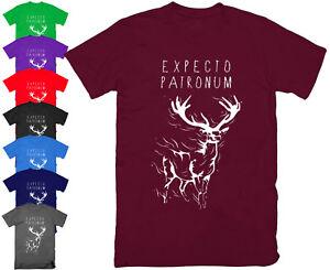 EXPECTO-PATRONUM-T-Shirt-Top-Harry-Potter-Deathly-Hallows-Magic-Wand-S-5XL
