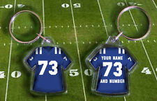 INDIANAPOLIS COLTS shirt  jersey KEYRING. Your own name and number. WEMBLEY