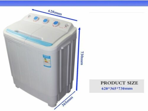 PORTABLE 230V TWIN 4.6KG WASHING MACHINE IDEAL FOR CARAVAN MOTORHOMES SPIN DRYER