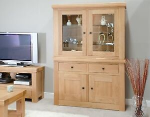 Image Is Loading Alaska Dresser Display Cutlery China Cabinet Solid Oak