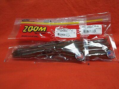 "15cnt ZOOM 7/"" Magnum Shakey Head Worm 2 PCKS #049-116 Motoroil"