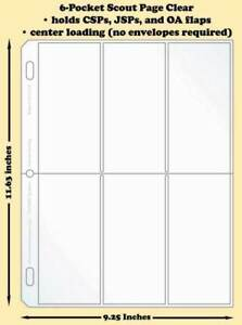 Best-Hobby-Pages-6-Pocket-Scout-Clear-Polypropylene-Archival-Page-Pack-of-25