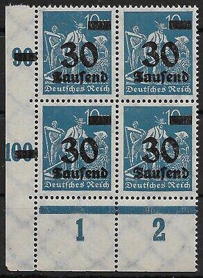 """""""schnitter"""" Minr. 284 Im Viererblock Vom Plattenunterrand Aus Ecke 3 Postfr. (1)"""