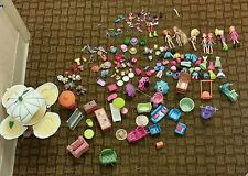 Polly Pocket Lot Collection Mini Doll Clothes Figures Vehicles Playset Pets food
