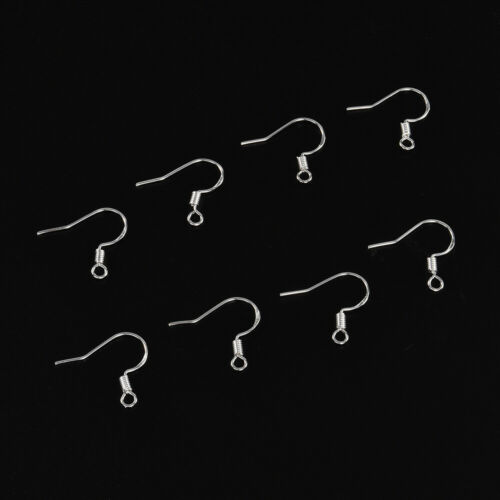 50 Pieces Earring Hooks Ear Wires French Hooks Hypoallergenic Stainless Steel
