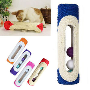 Pet-Cat-Rolling-Sisal-Scratching-Post-Trapped-3-Ball-Training-Activity-Toy-Fun