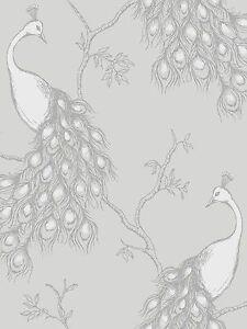 neu feine dekor kaiserin pfau shabby chic tapete wei grau silber fd40712 ebay. Black Bedroom Furniture Sets. Home Design Ideas