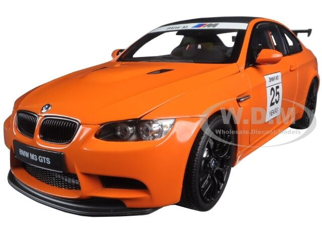 BMW M3 GTS 25 YEARS ANNIVERSARY FIRE arancia 1/18 DIECAST MODEL BY KYOSHO 08739