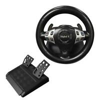 New 3 in 1 Vibration Gaming Racing Steering Wheel with Pedal for PC USB PS2 PS1