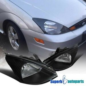 Image Is Loading 00 04 Ford Focus Embly Black Headlights Driving