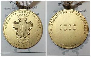 Medaille-Barletta-IV-Centenaire-1578-1978-Opera-Pia-Monnaies-de-Merci-039-Ag-40gr