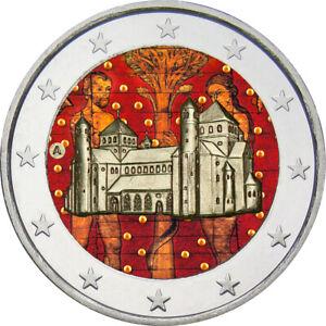 2-Euro-Gedenkmuenze-BRD-Deutschland-2014-Niedersachsen-coloriert-Farbe-Farbmuenze