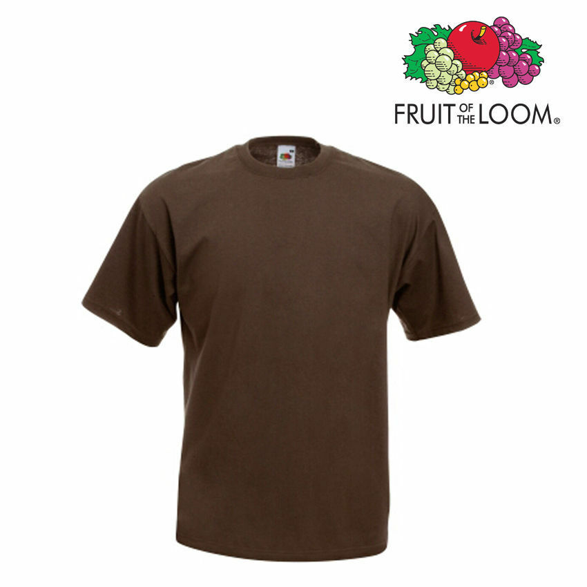 Lot de 50 T-shirts homme manches courtes FRUIT OF THE LOOM Farbe CHOCOLAT