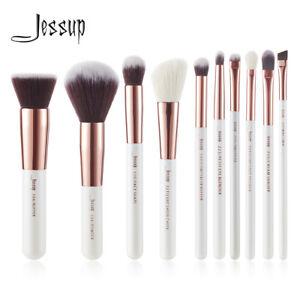 10pcs-Makeup-Set-Brushes-Powder-Eyeliner-Lip-Cheek-Concealer-Tool-KitsRose-Gold